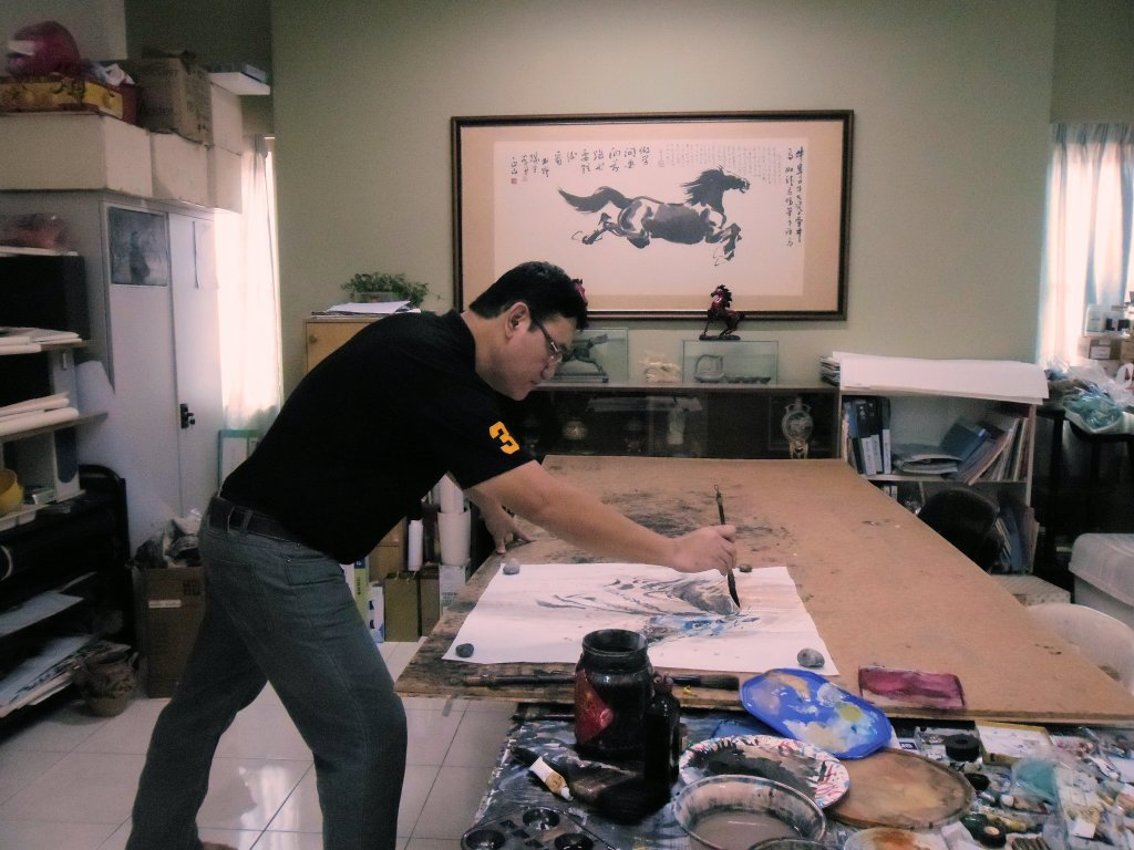 Secretariat had become my main and significant art subject by destiny.