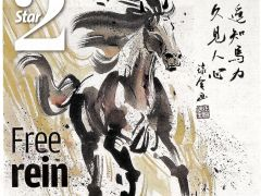 The Star 2 Front Cover: Horse Painting by James Phua