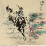 James Phua Chinese horse painting 瑞全中国水墨画马, Show Jumping (跃马术)