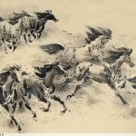 James Phua Chinese horse painting 瑞全中国水墨画马, Expanding Like Galloping Horses (八骏奔腾 大展宏图)