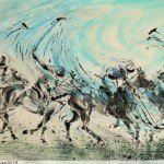 James Phua Chinese horse painting 瑞全中国水墨画马, A Swing Of Victory (王者一挥定江山)