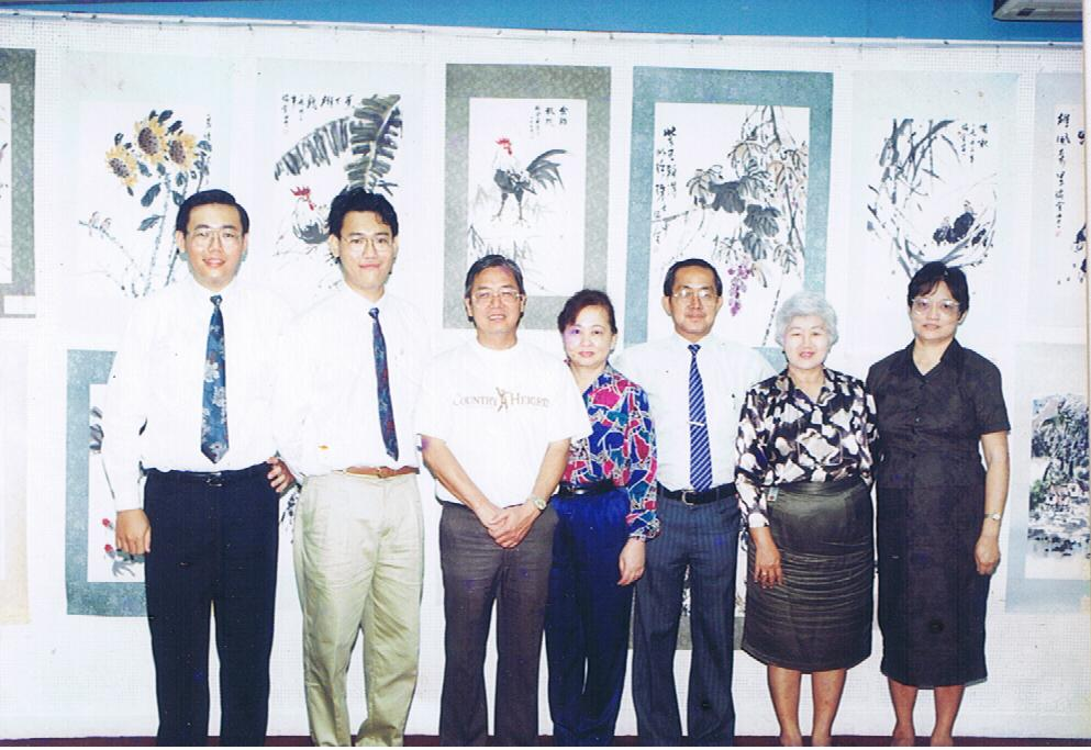 Me (second from left), my family and the honorable guests.