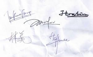 Various signature (各种签名)