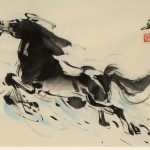 James Phua Chinese horse painting 瑞全中国水墨画马, As High As Cloud (骏马一跃欲凌云)