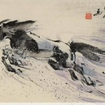 James Phua Chinese horse painting 瑞全中国水墨画马, Ambitious Jump (壮志凌云)