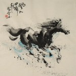 James Phua Chinese horse painting 瑞全中国水墨画马, The Windy Heels (风入四蹄轻) 69 x 67.5cm