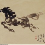 James Phua Chinese horse painting 瑞全中国水墨画马, A –Single-Stroke Horse Painting (一笔马,一宇宙) 66.5 x 93.5cm