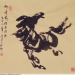 James Phua Chinese horse painting 瑞全中国水墨画马, A –Single-Stroke Horse Painting 一笔马(仰首前程志浩然)66.5 x 74cm