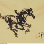 James Phua Chinese horse painting 瑞全中国水墨画马, A –Single-Stroke Horse Painting 一笔马(春风得意)66.5 x 94.5cm