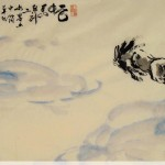 James Phua Chinese horse painting 瑞全中国水墨画马, Horse In Clouds (云中马)