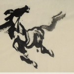 James Phua Chinese horse painting 瑞全中国水墨画马, A –Single –Stroke Horse Painting (一笔马,一宇宙)