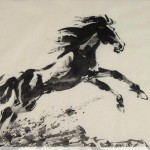 James Phua Chinese horse painting 瑞全中国水墨画马, Gallop Without Restraint (奔放不羁)
