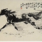 James Phua Chinese horse painting 瑞全中国水墨画马, Way Out (夺路而出)