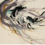 James Phua Chinese horse painting 瑞全中国水墨画马, Dragon-Horse (龙马飞天)