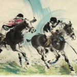 James Phua Chinese horse painting 瑞全中国水墨画马, Great Man, Great Horse (人强马壮)