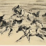 James Phua Chinese horse painting 瑞全中国水墨画马, Six Horses (六骏图)