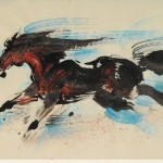 James Phua Chinese horse painting 瑞全中国水墨画马, Fully Charged (冲劲十足)
