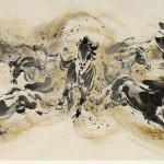 James Phua Chinese horse painting 瑞全中国水墨画马, Eight Horses In Golden Sand (金沙滚滚)