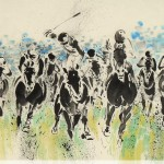 James Phua Chinese horse painting 瑞全中国水墨画马, Speed Up (快马加鞭) 69.5 x 136.5cm
