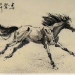 James Phua Chinese horse painting 瑞全中国水墨画马, Heading For Prospects (马登前程) 69.5 x 136.5cm