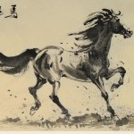 James Phua Chinese horse painting 瑞全中国水墨画马, The Prosperous Year Of Horse (马运亨通) 70 x 138cm