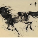 James Phua Chinese horse painting 瑞全中国水墨画马, A Powerful Start (一冲万里) 70 x 136.5cm