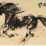 James Phua Chinese horse painting 瑞全中国水墨画马, Heroic Posture (雄风万里)70 x 138.5cm