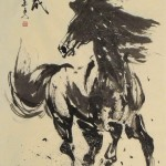 James Phua Chinese horse painting 瑞全中国水墨画马, Success Upon Arrival Of Horse (马到功成) 70 x 138.5cm