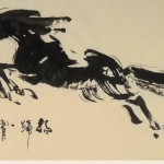 James Phua Chinese horse painting 瑞全中国水墨画马, The Great Jumper (扬蹄一跃 壮志凌云) 70 x 138.5cm