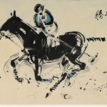 James Phua Chinese horse painting 瑞全中国水墨画马, Not Made Dizzy With Success Nor Discouraged By Failure (胜不骄 败不馁) 70 x 138.5cm