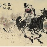James Phua Chinese horse painting 瑞全中国水墨画马, Achieve With Sharp Observation (眼锐心细创佳绩) 70 x 138cm