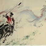 James Phua Chinese horse painting 瑞全中国水墨画马, A Manner Of King (王者之风) 97 x 181.5cm