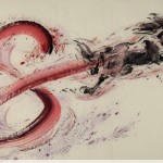 James Phua Chinese horse painting 瑞全中国水墨画马, A Sprint Of Fortune (一冲即发) 97 x 180cm