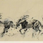 James Phua Chinese horse painting 瑞全中国水墨画马, Transition Of Six Motions Of Horse (骏马连环六姿图) 62 x 248cm