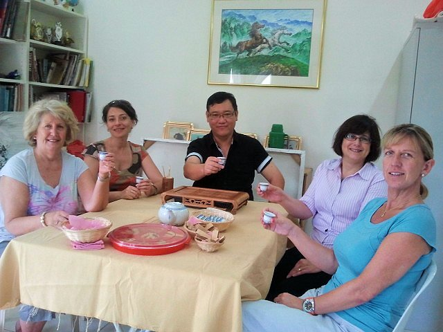 James Phua with his guests during Chinese New Year.