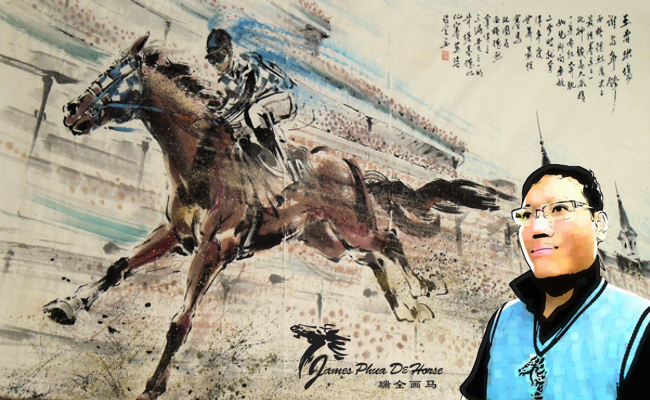 James Phua and Secretariat, The Legendary Horse