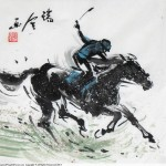 Horse Racing 赛马34 x 34cm
