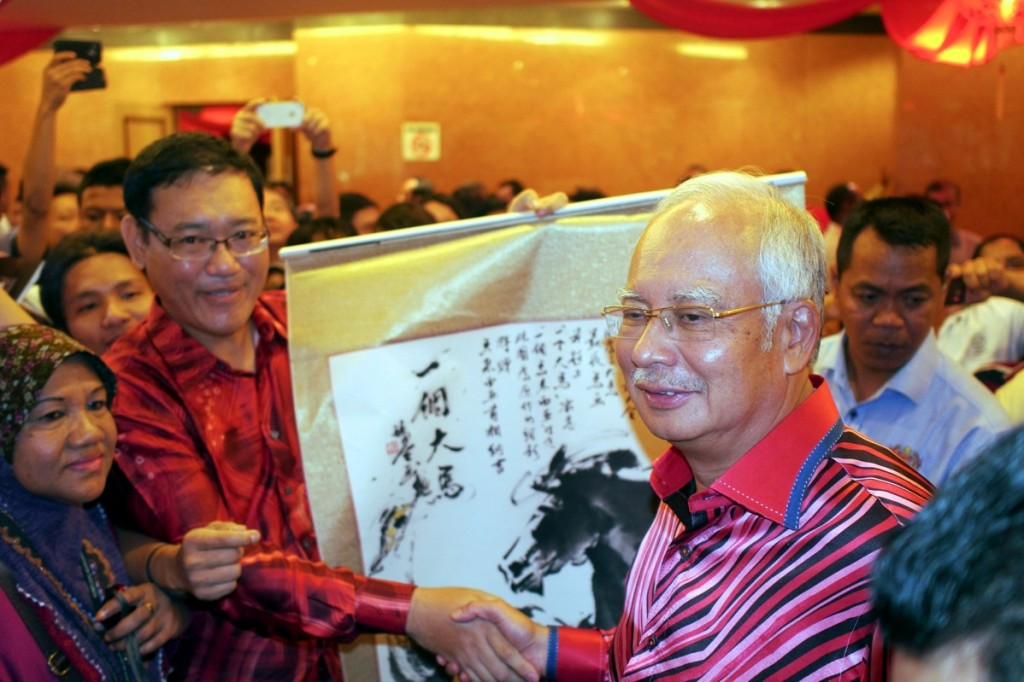 On 1 February 2014 at 11.30am, the 'One Malaysia' horse painting was presented by me personally to  Prime Minister Datuk Seri Najib Razak during his presence at MCA Chinese New Year Gathering at Wisma MCA.