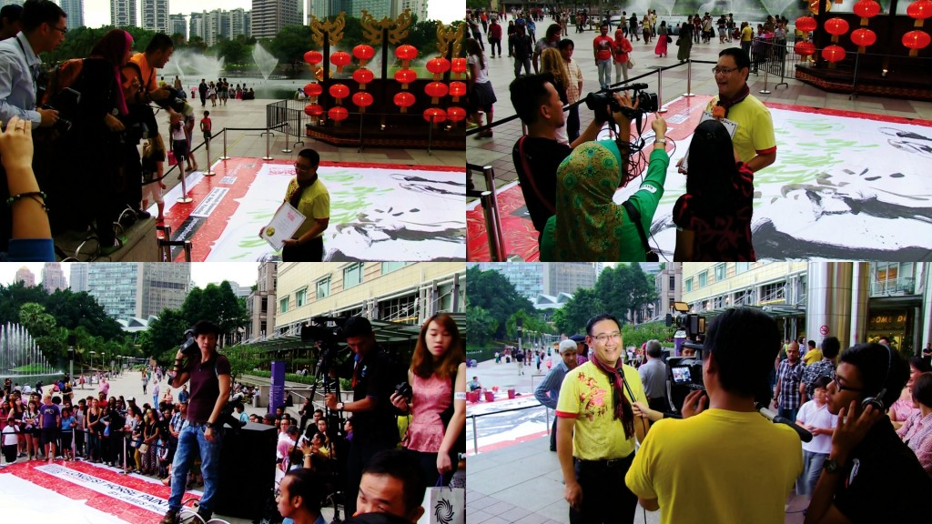 This event had attracted a lot media to cover the making of 'Longest Horse Painting' that day. The press media were The Star, Focus Malaysia, Sin Chew Daily, China Press, Oriental Daily, Guang Ming Daily, The Sun, Feminine and many more. Whereas, the TV stations were Bernama TV, MyTTV, TV3 (NONA), RTM (Hot), Capital TV, Hello on Two and many more.