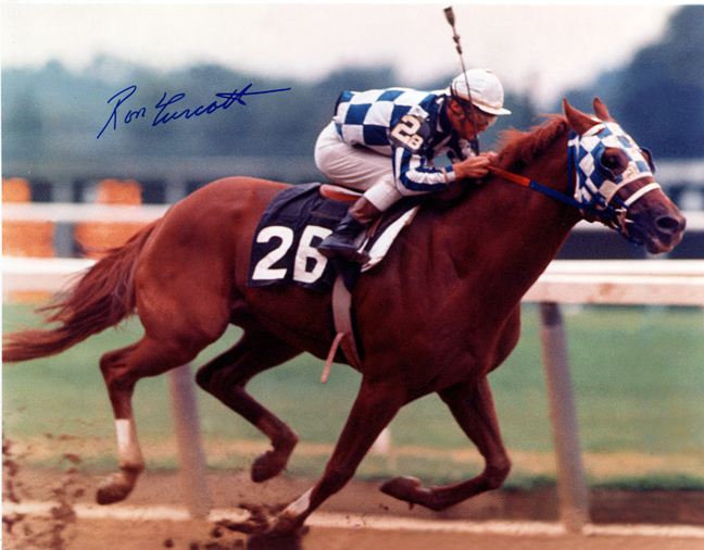 Secretariat wining the Marlboro Cup in 1973